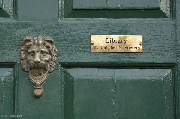 [St. Cuthbert's Society library entrance, Durham University]