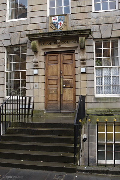 [Main entrance to St. John's College along the North Bailey, Durham University]