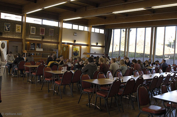 [The dining hall in Collingwood College]