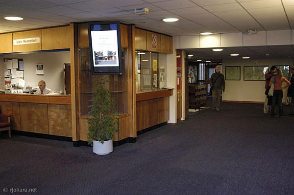 [Main reception desk in Collingwood College]