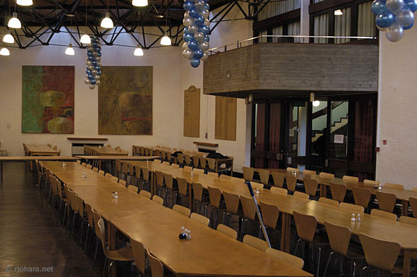 [Trevelyan College dining hall, University of Durham]