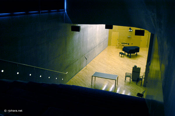 [The basement lecture/concert hall in Simmons Hall]
