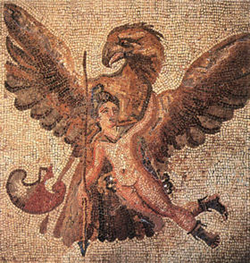 [Zeus as an eagle carrying off Ganymede]