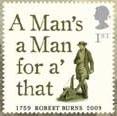 [Robert Burns commemorative stamp]