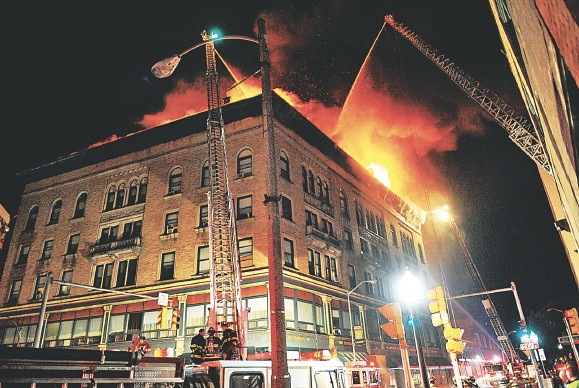 [Image: Johnsonia building fire, Fitchburg, June 2011.]