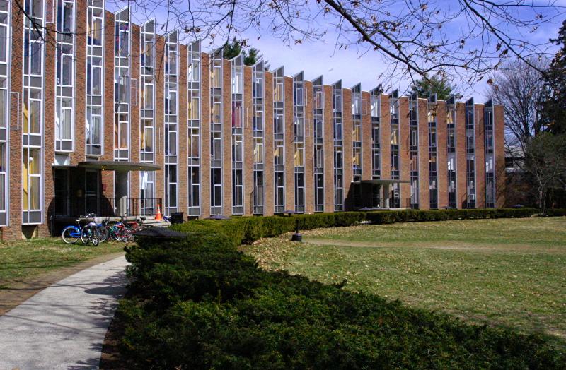 [Main entrance to Noyes House at Vassar College]