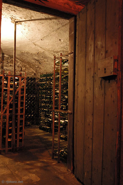 [The master's wine cellar in the Castle, University of Durham]