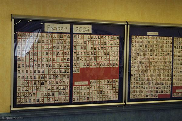 [Student directory board, St. Aidan's College, Durham]