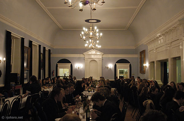 [Formal dinner at the high table, Hatfield College, Durham University]