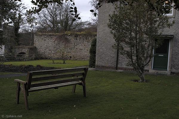 [St. Cuthbert's Society courtyard, University of Durham]