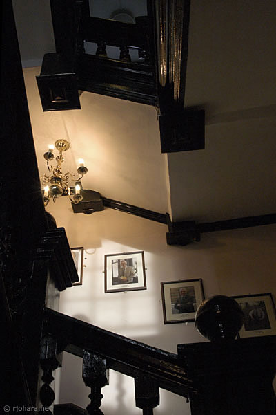 [Main staircase of St. Cuthbert's Society, Durham]