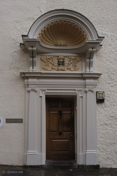 [Formal entrance to St. Cuthbert's Society on the Bailey, Durham]