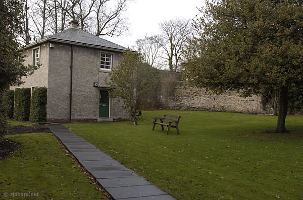 [St. Cuthbert's Society courtyard, Durham University]