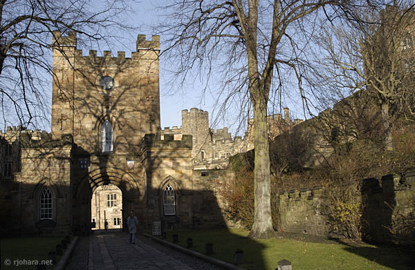 [Main entrance to the Castle (University College) from Palace Green, Durham]