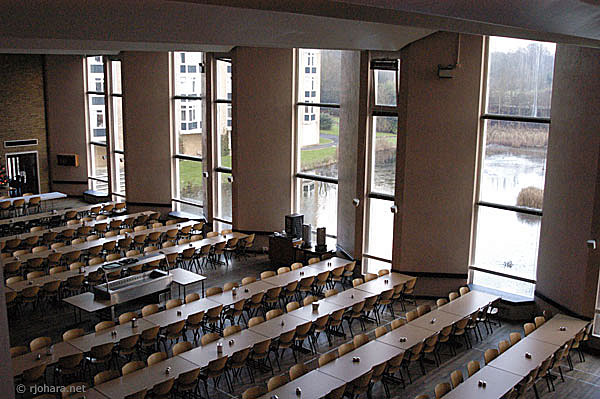 [Van Mildert College dining hall, University of Durham]