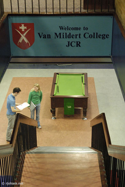 [Entrance to the Van Mildert College JCR, Durham University]