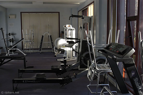 [Exercise room in Collingwood College]