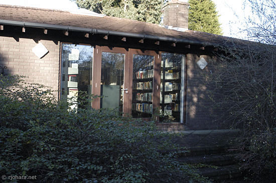 [Collingwood College library, Durham University]