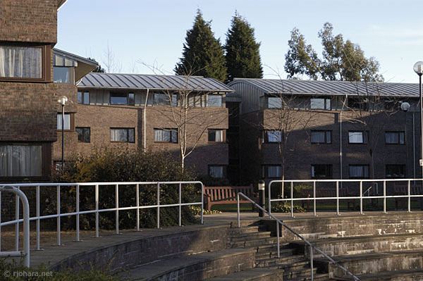 [One of the residential blocks of Collingwood College, Durham University]