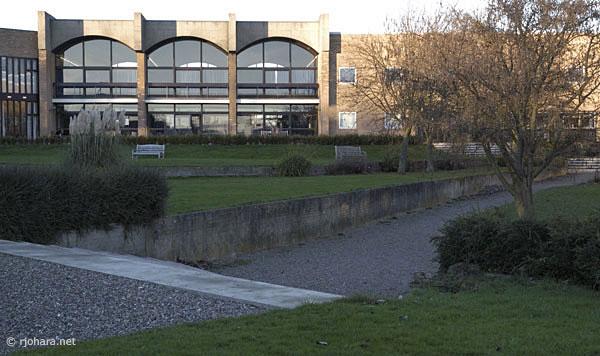 [Courtyard of St. Aidan's College, University of Durham]