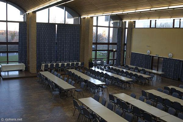 [Dining hall of St. Aidan's College, University of Durham]