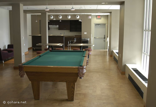 [The game room in the new UVM residential college]
